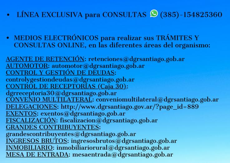 LÍNEA EXCLUSIVA Y MEDIOS ELECTRÓNICOS PARA CONSULTAS Y TRÁMITES ONLINE